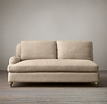 Belgian Classic Roll Arm Upholstered Left-Arm Sofa