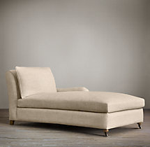 Belgian Classic Roll Arm Upholstered Right-Arm Chaise