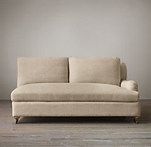 Belgian Classic Roll Arm Upholstered Right-Arm Sofa