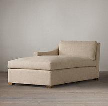 Belgian Classic Slope Arm Upholstered Left-Arm Chaise