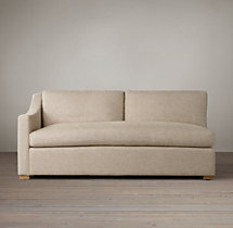 Belgian Classic Slope Arm Upholstered Left-Arm Sofa