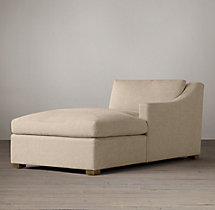 Belgian Classic Slope Arm Upholstered Right-Arm Chaise