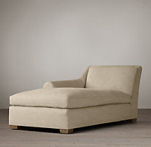 Belgian Roll Arm Upholstered Left-Arm Chaise