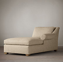 Belgian Roll Arm Upholstered Right-Arm Chaise