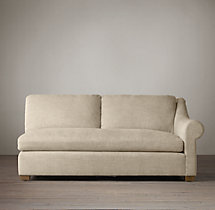 Belgian Roll Arm Upholstered Right-Arm Sofa