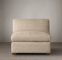 Belgian Shelter Arm Upholstered Armless Chair