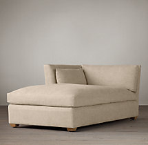 Belgian Shelter Arm Upholstered Left-Arm Chaise