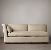 Belgian Shelter Arm Upholstered Left-Arm Sofa