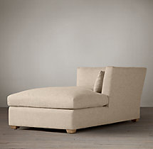 Belgian Shelter Arm Upholstered Right-Arm Chaise