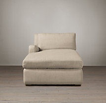 Belgian Slope Arm Upholstered Left-Arm Chaise