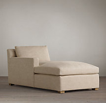 Belgian Track Arm Upholstered Left-Arm Chaise