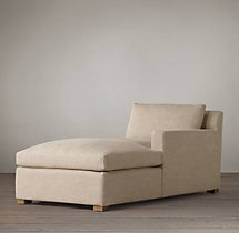 Belgian Track Arm Upholstered Right-Arm Chaise