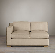 Collins Upholstered Left-Arm Sofa With Nailheads