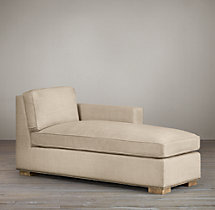 Collins Upholstered Right-Arm Chaise With Nailheads
