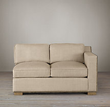 Collins Upholstered Right-Arm Sofa With Nailheads