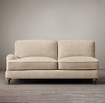 English Roll Arm Upholstered Left-Arm Sofa