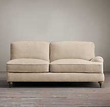 English Roll Arm Upholstered Right-Arm Sofa