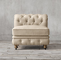 Kensington Upholstered Armless Chair