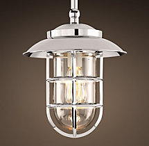 Starboard Pendant With Shade - Polished Nickel