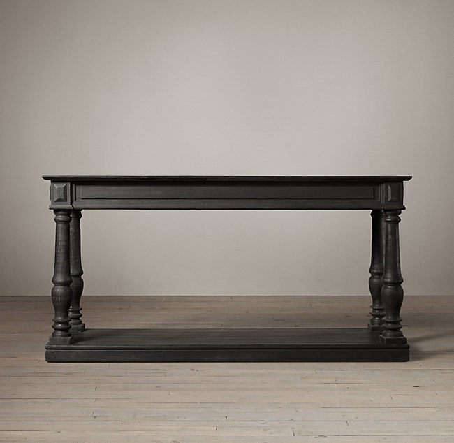 Distressed Rectory Small Console Table