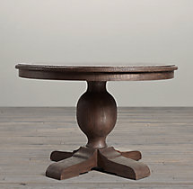 French Urn Pedestal Round Dining Table