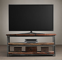 Salvaged Boatwood Media Console