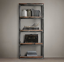 Salvaged Boatwood Narrow Single Shelving