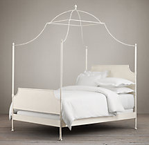 19th C. Campaign Iron Canopy Bed