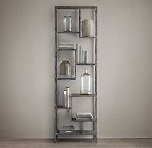 Vintage Industrial Staggered Shelving