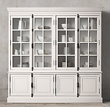 French Casement 4-Door Sideboard & Hutch