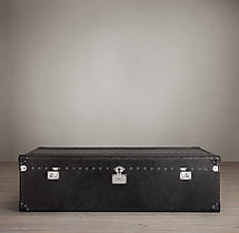 Mayfair Steamer Trunk Coffee Table - Old Black Saddle