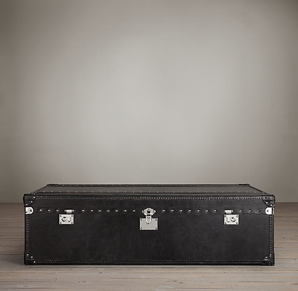 Mayfair Steamer Trunk Coffee Table Old Black Saddle