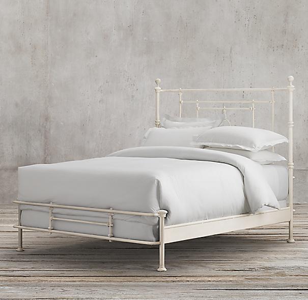 19th C Quatrefoil Iron Bed