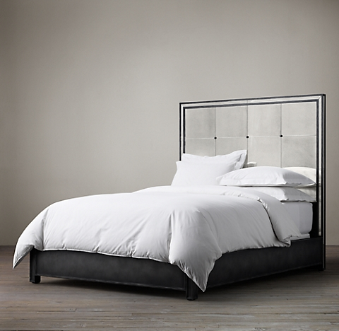 More Sizes Strand Mirrored Bed
