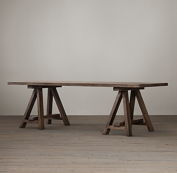 Restoration Hardware Inc: Reclaimed Russian Oak Trinity Rectangular Dining Table