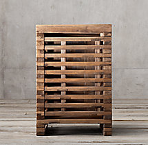 Reclaimed Timber Slat Side Table