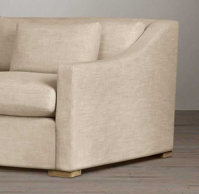 7 Belgian Classic Slope Arm Upholstered Sofa