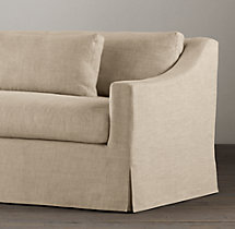 9' Belgian Classic Slope Arm Slipcovered Sofa