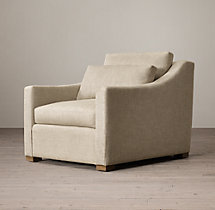 Belgian Classic Slope Arm Upholstered Chair