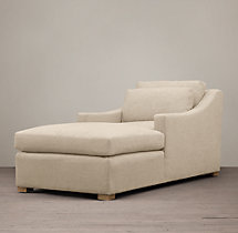 Belgian Classic Slope Arm Upholstered Chaise