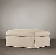 Belgian Classic Slope Arm Slipcovered Ottoman