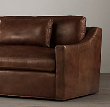 9' Belgian Classic Slope Arm Leather Sofa