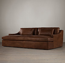 Belgian Classic Slope Arm Leather Daybed