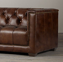 6' Savoy Leather Sofa