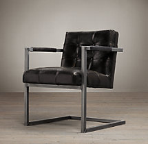 Milano Tufted Chair - Onyx