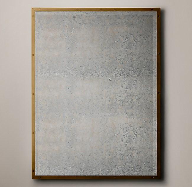 Bistro Antiqued Glass Mirror