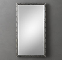 Antiqued Riveted Leaner Mirror