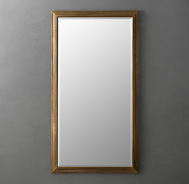 English Aged Leaner Mirror