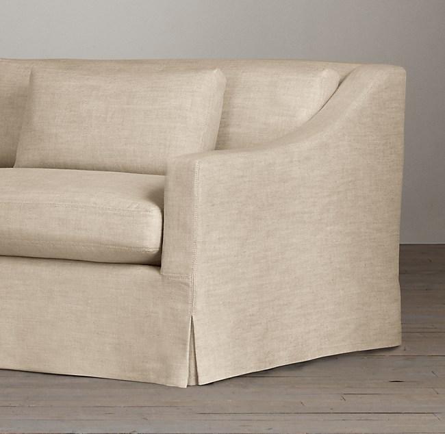 8 Belgian Classic Slope Arm Slipcovered Sofa