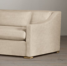 10' Belgian Classic Slope Arm Upholstered Sofa